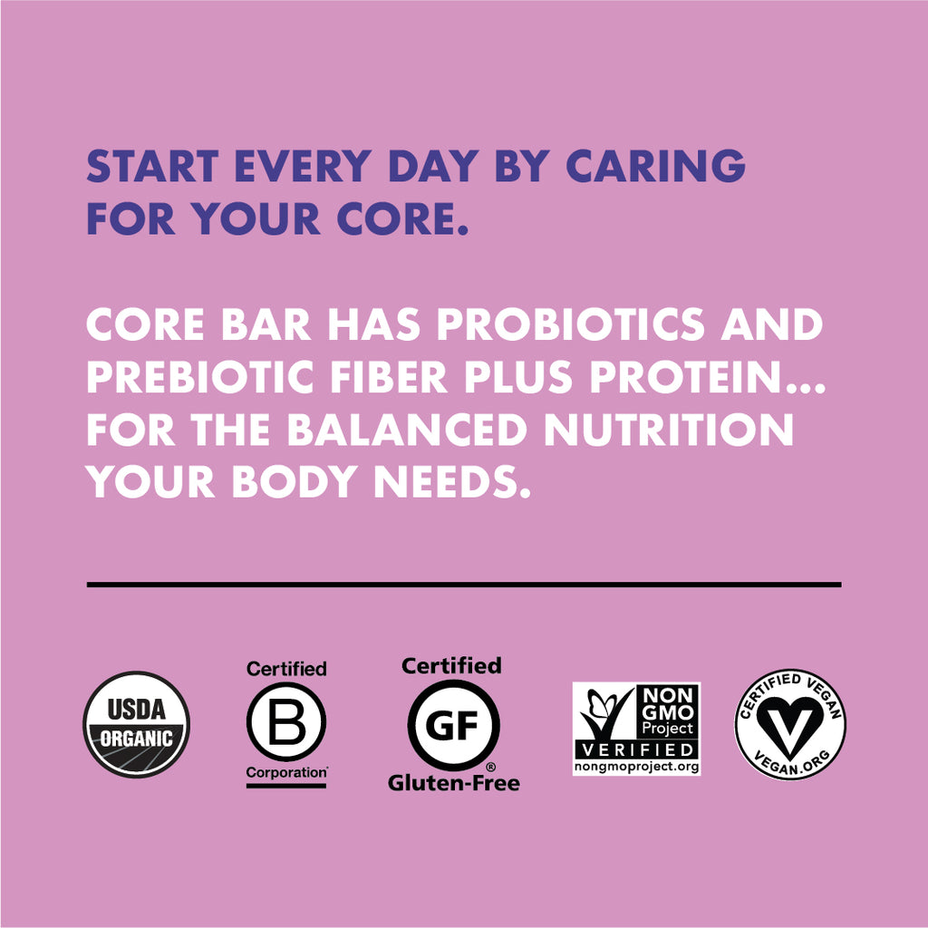 CORE Foods Organic Overnight Oat Bar + Probiotics, Blueberry Banana Almond, 2 Oz, 16 Count