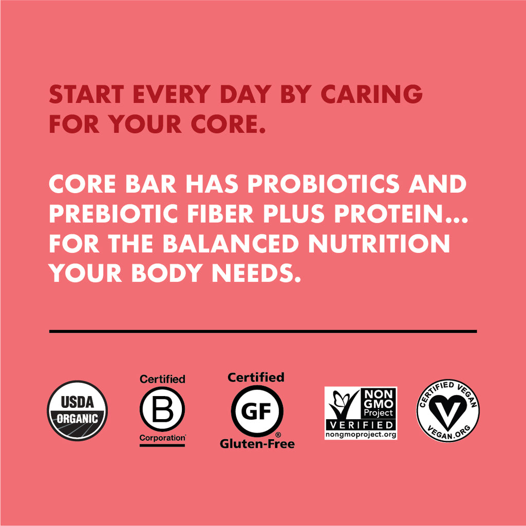 CORE Foods Organic Overnight Oat Bar + Probiotics, Dark Chocolate Cherry, 2 Oz, 16 Count