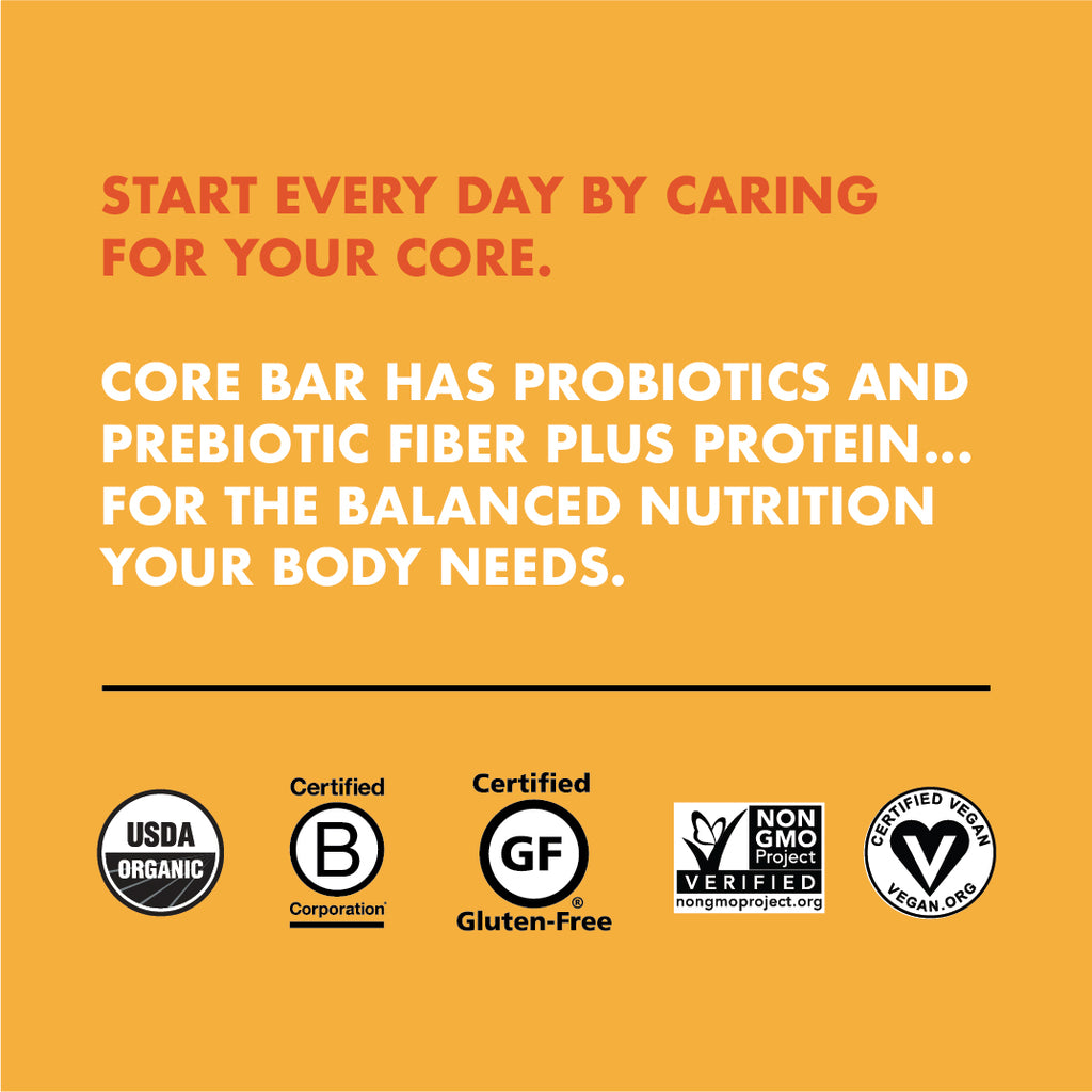 CORE Foods Organic Overnight Oat Bar + Probiotics, Peanut Butter, 2 Oz, 16 Count