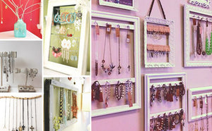DIY: PICTURE FRAMES TURNED JEWELRY DISPLAYS TUTORIAL