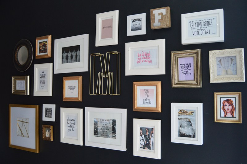 DIY Inspirational Collage Wall Idea