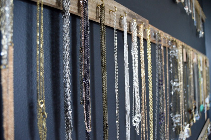 DIY Jewelry Display Wall