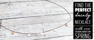 Dainty Necklaces for Layering | Rose Gold Necklace | FENNO FASHION | Megan Fenno