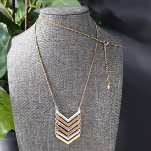 Chevron Necklace | Geometric Jewelry |. Megan Fenno | FENNO FASHION