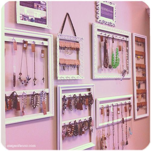 DIY Picture Frame Jewelry Displays | Megan Fenno | FENNOfashion