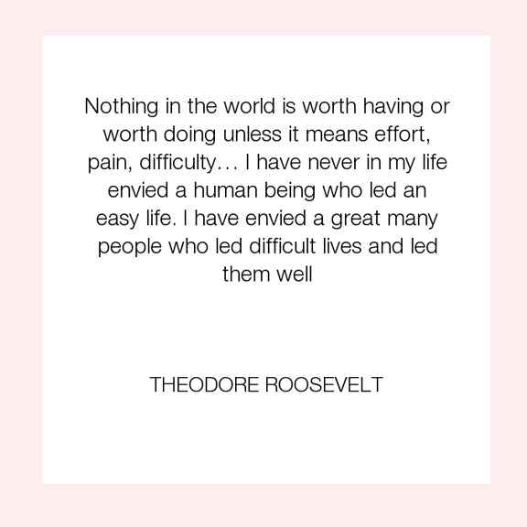 Theodore Roosevelt | Nothing Worth Having Ever Comes Easy | My story about starting a fashion truck & mobile boutique business | Megan Fenno