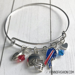Buffalo Bills Jewelry | Buffalo Bills Silver Bangle Bracelet | Megan Fenno | FENNOfashion