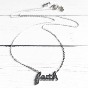 Silver Faith Necklace | Megan Fenno | FENNO FASHION