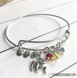 Bulldog Jewelry | Custom Silver Bulldog Charm Bracelet | Megan Fenno | FENNOfashion
