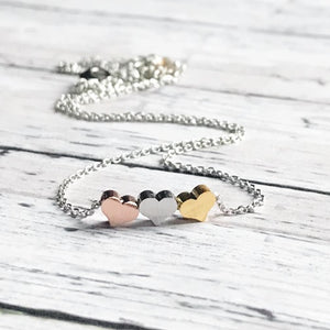 Mixed Metal Heart Necklace | Mothers Day Gift | Mothers Day Jewelry | FENNO FASHION | Megan Fenno