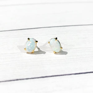 Opal Stud Earrings | Opal Earrings | Megan Fenno | FENNO FASHION