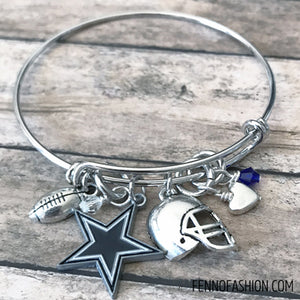 Dallas Cowboys Jewelry | Dallas Cowboys Silver Bangle Bracelet | Megan Fenno | FENNOfashion