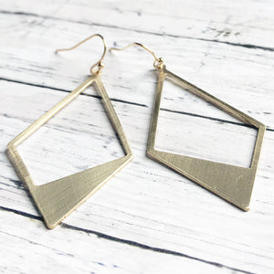 Gold Geometric Earrings | Megan Fenno | FENNO FASHION