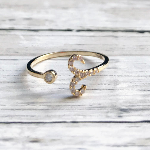 Adjustable Gold Zodiac Rings