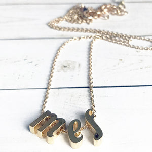 Gold Custom Initial Necklace for Little Girls | Little Girl Personalized Jewelry | Megan Fenno | FENNOfashion
