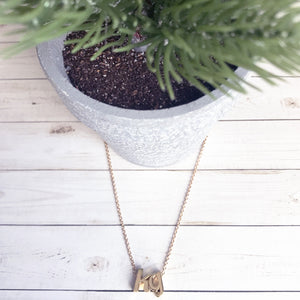 Custom & Handmade Gold Initial Necklace | Megan Fenno | FENNOfashion
