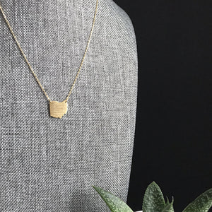 Gold Ohio Necklace | Gold OH Necklace | FENNOfashion | Megan Fenno
