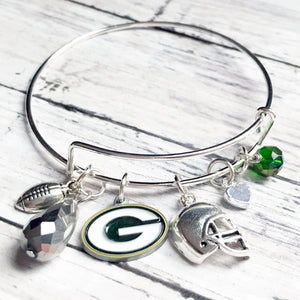 Green Bay Packers Bangle Bracelet | FENNO FASHION | Megan Fenno | Football Jewelry