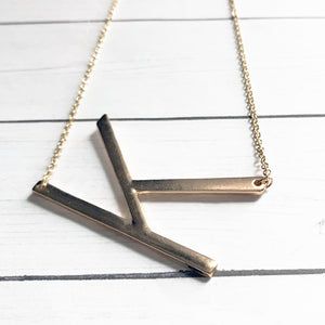Block Letter K Initial Necklace | Megan Fenno | FENNOfashion