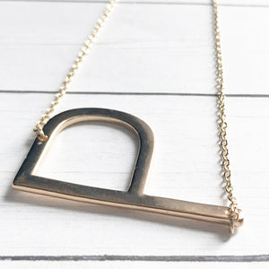 Block Letter P Initial Necklace | Megan Fenno | FENNOfashion