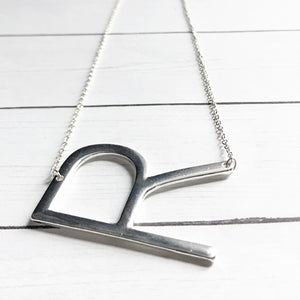 Block Letter R Initial Necklace | Megan Fenno | FENNOfashion
