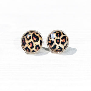 Leopard Print Stud Earrings | Leopard Earrings | Megan Fenno | FENNO FASHION