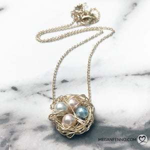 Handmade Momma Bird Silver or Gold Nest Necklace | Cincinnati | Megan Fenno | FENNOfashion