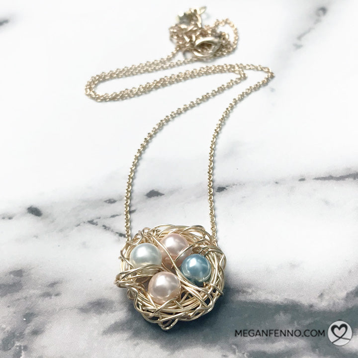 Handmade Momma Bird Silver Nest Necklace | Cincinnati | Megan Fenno | FENNOfashion