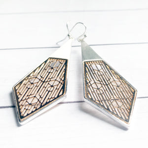 Mixed Metal Geometric Earrings | Geometric Jewelry | Megan Fenno | FENNO FASHION