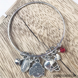 Ohio State Jewelry | Ohio State Silver Bangle Bracelet | Megan Fenno | FENNOfashion
