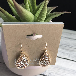 Small Gold Crystal Earrings | Megan Fenno | FENNO FASHION