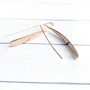 Rose Gold Bar Earrings | Threader Earrings | Megan Fenno | FENNO FASHION
