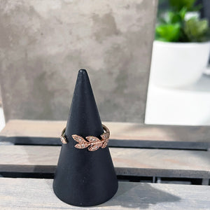 Adjustable Rose Gold Ring | Rose Gold Crystal Ring | Vine Ring | FENNO FASHION | Megan Fenno