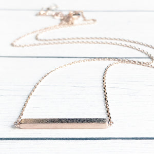 Dainty Rose Gold Bar Necklace | FENNO FASHION | Megan Fenno