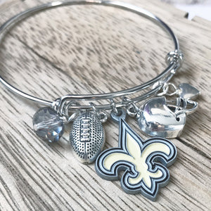 Saints Jewelry | Saints Silver Bangle Bracelet | Megan Fenno | FENNOfashion