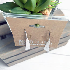 Silver Bar Earrings | Threader Earrings | Megan Fenno | FENNO FASHION