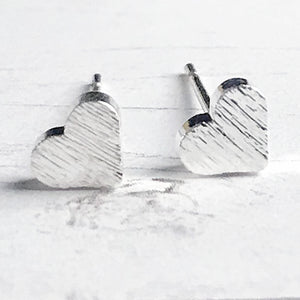 Silver Heart Stud Earrings | FENNO FASHION | Megan Fenno | Cincy Made