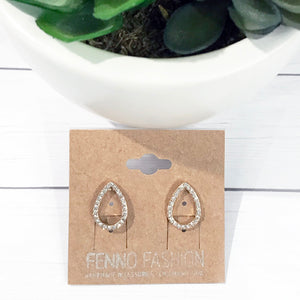 Gold Stud Earrings | Crystal Stud Earrings | Megan Fenno | FENNO FASHION