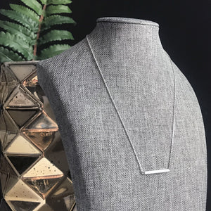 Silver Bar Necklace | Megan Fenno | FENNO FASHION