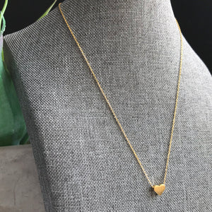 Gold Heart Necklace | Megan Fenno | FENNO FASHION