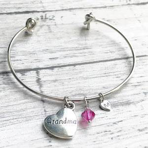 Custom Bangle Bracelet  | Custom Initial Bracelet | Birthstone Jewelry | FENNO FASHION | Megan Fenno