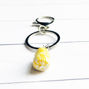 Flower Petal Remembrance Keychain using Handmade Beads | Customizable Keychain | Megan Fenno | FENNO FASHION | Cincinnati | Memorial Jewelry