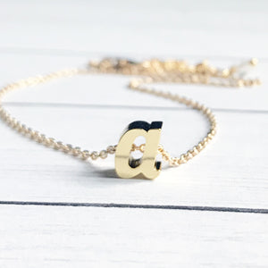 Gold Letter A Initial Necklace | Megan Fenno | FENNO FASHION