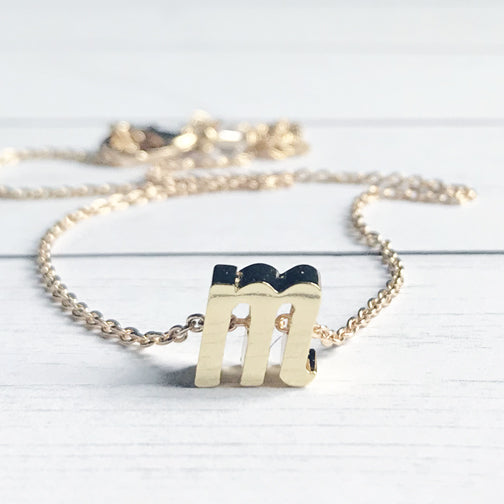 Gold Letter M Initial Necklace | Megan Fenno | FENNO FASHION