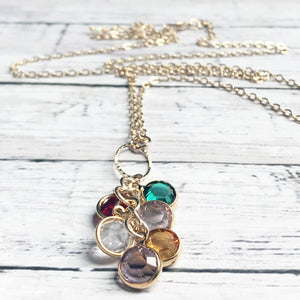 Birthstone Charm Necklace | Grandmother Personalized Necklace | Megan Fenno | FENNO FASHION