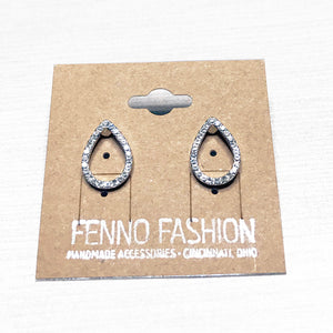 Silver Stud Earrings | Crystal Stud Earrings | Megan Fenno | FENNO FASHION