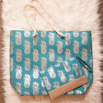 Pineapple Tote Bag - Turquoise
