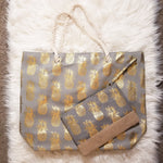 Pineapple Tote Bag - Gray