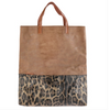 Brown Leopard Tote Bag
