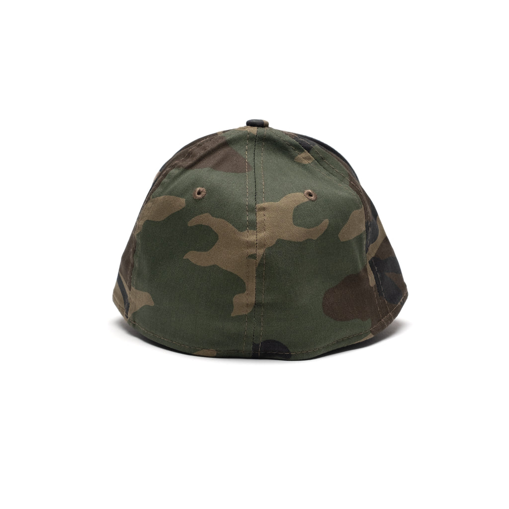 New Era Camo Cap with Raised Embroidery